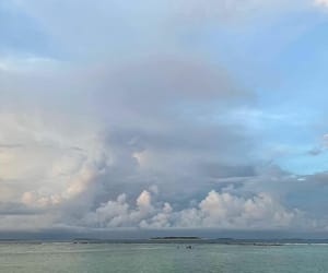 blue, ocean, and clouds image