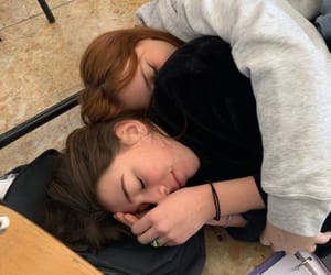 cuddles, friendship, and girlfriend image