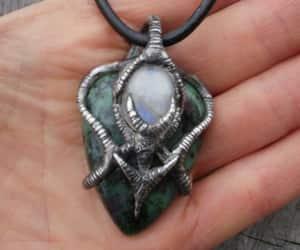 etsy, gemstone necklace, and moonstone image
