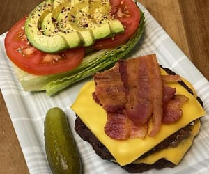 burger, cook, and cucumber image