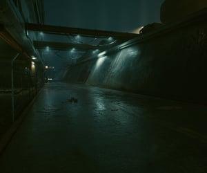 abandoned, blue, and cyberpunk image