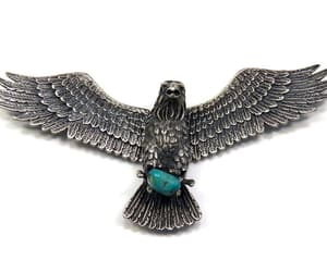 etsy, mens necklace, and huge eagle pendant image