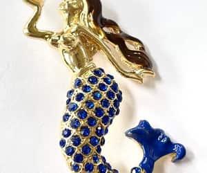 etsy, mermaid necklace, and vintagevoguetreasure image