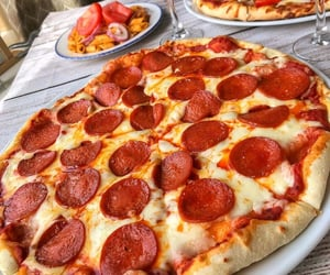 food, pizza, and lunch image