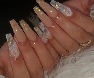 gold, hearts, and nails image
