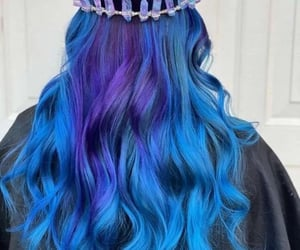 blue, blue hair, and color hair image