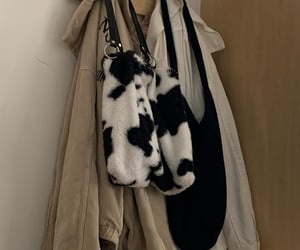 aesthetic, cow, and bag image