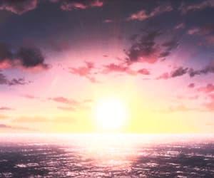 anime, gif, and sky image
