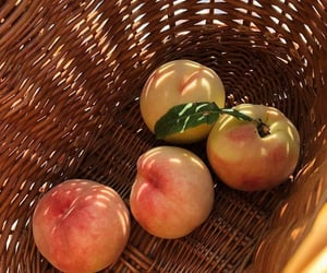 peach, food, and fruit image