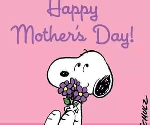 mothers day, snoopy, and peanuts gang image