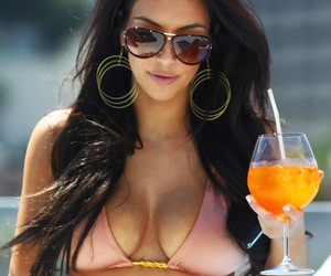 drink, kim kardashian, and summer image