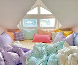 bed, cute, and comfortable image