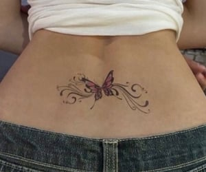 aesthetic, back, and butterfly image