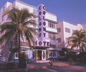 florida, hotel, and beach image