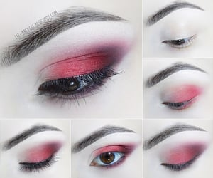 aesthetic, blogger, and red eyeshadow image
