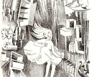 alice in wonderland, rabbit hole, and tove jansson image