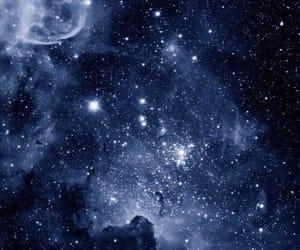 night, sky, and blue image