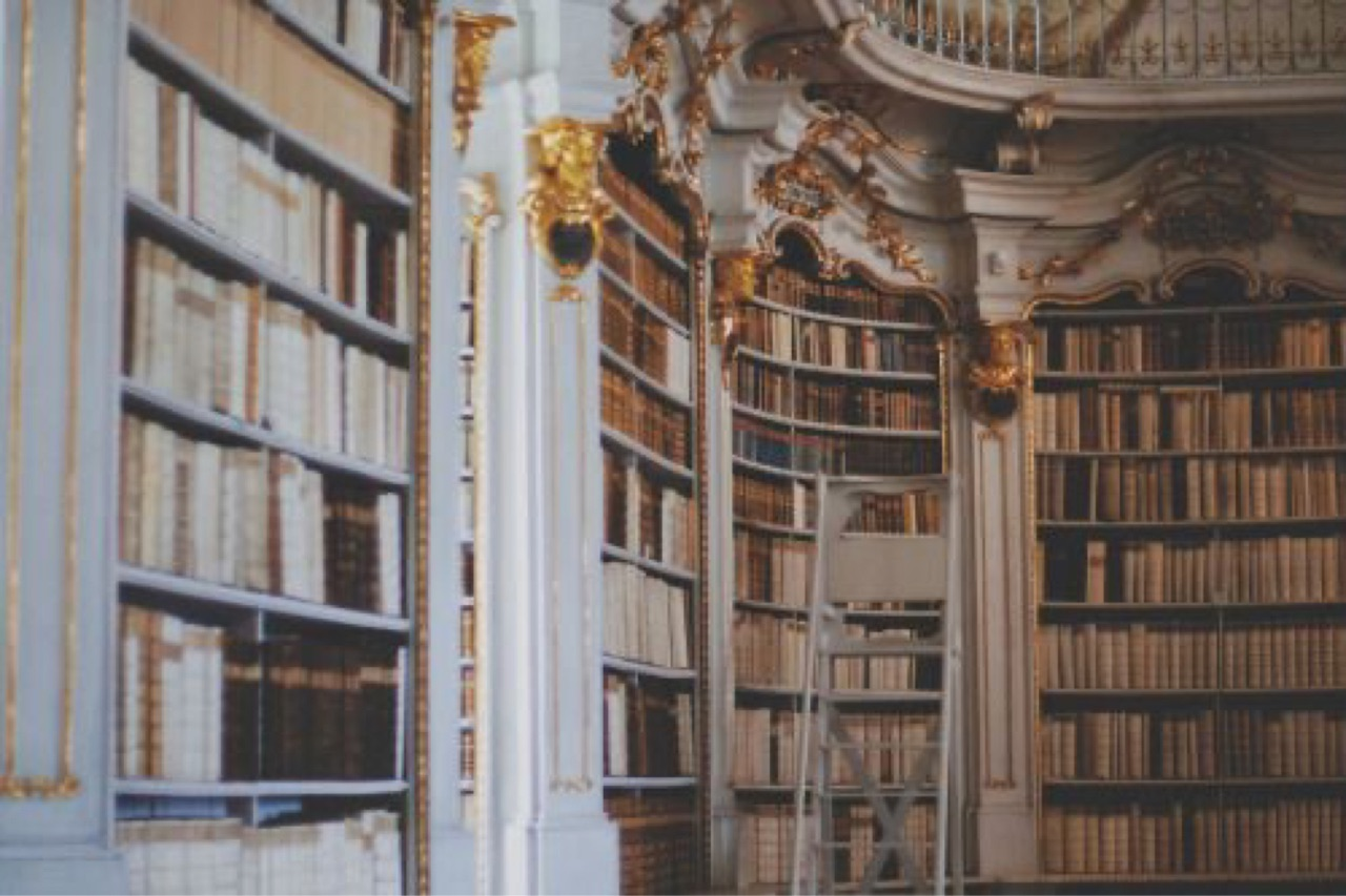 library, aesthetic, and books image