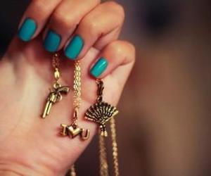 nails, blue, and gun image