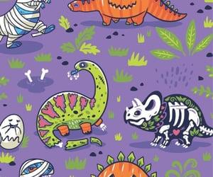 Halloween and dinosaur image