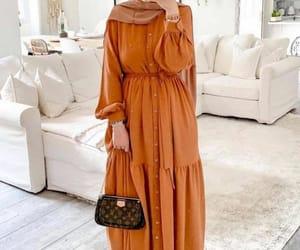 dress, modest, and abaya image