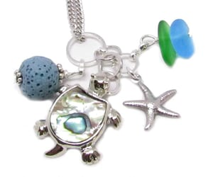 rear view mirror charm, sea turtle car charm, and car accessories for women image