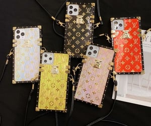 Louis Vuitton, gold, and iphone case image