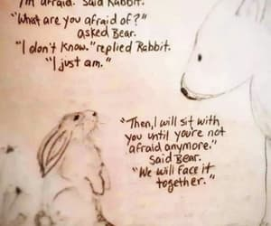 afraid, bear, and bunny image