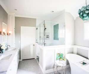 bathroom, interior design, and shower image