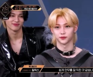 felix, stray kids, and wooyoung image