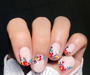 delicate, flower, and nail image