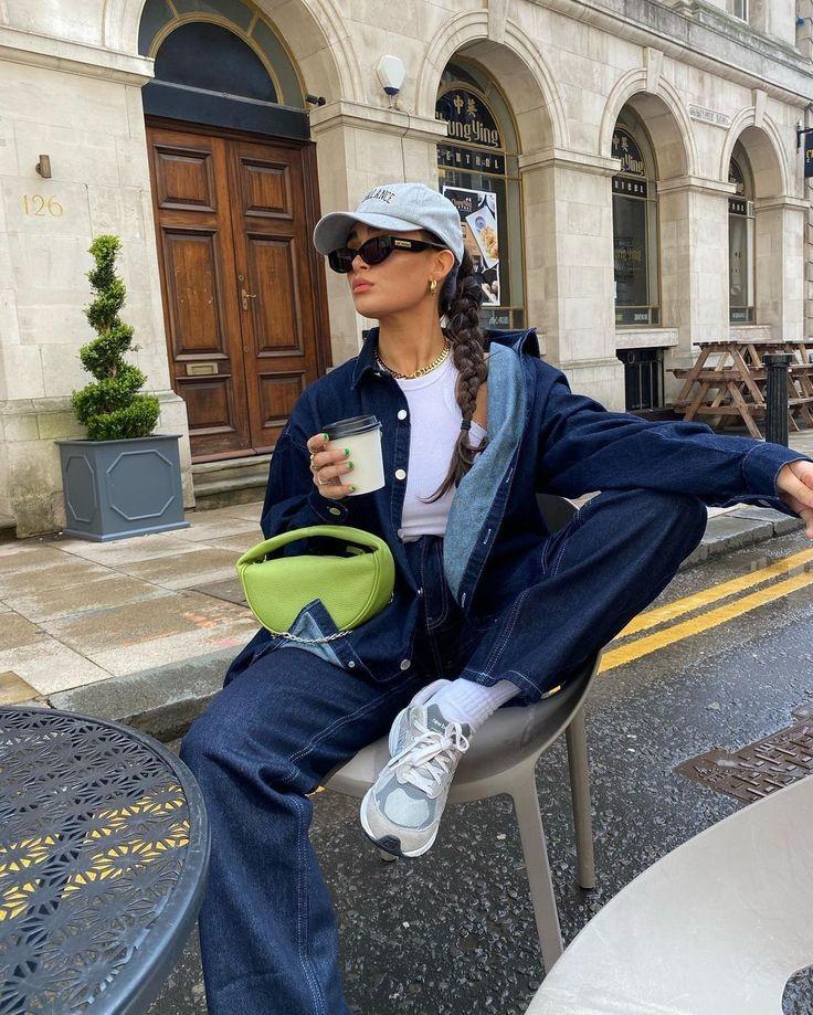 blogger, coffee, and denim image