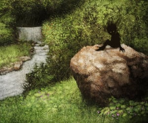 folklore, forest creature, and illustration image