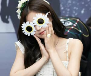 daisy, flowers, and blackpink image