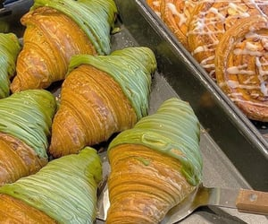 food, pastry, and croissant image