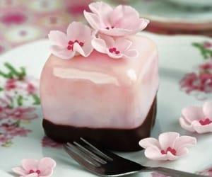 cherry blossom, cake, and cakes image