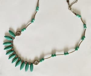 bib necklace, casual jewelry, and turquoise and silver image