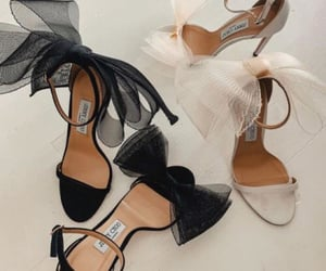 black, glam, and heels image