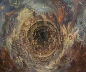 album covers, apocalyptic scenery, and black metal artwork image