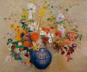 still life, flowers, and by odilon redon image