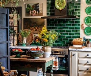 cook, green, and home decor image