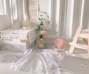 aesthetic, pink, and white image