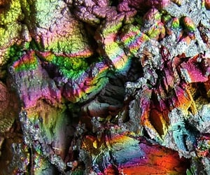 close up, geology, and iridescent image