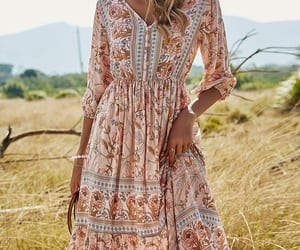 floral dress, fashion dress, and holiday dresses image