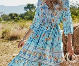 floral dress, beach dress, and printed dress image