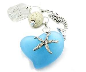car accessories, mermaid gifts, and sea glass car charm image