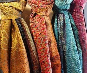 etsy, reversible scarf, and kantha scarf image