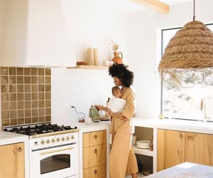 baby, kitchen, and love image