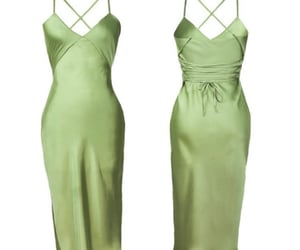 chic, green dress, and dress image
