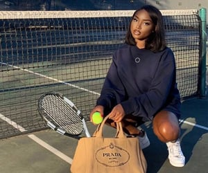 black girl, sports, and tennis image